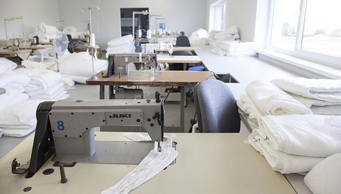 Produkcja pokrowców na materac